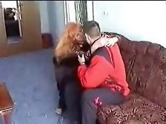 redhead Russian granny fucked in...