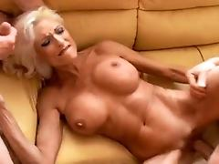 Huge Fake Tits MILF fucked by...