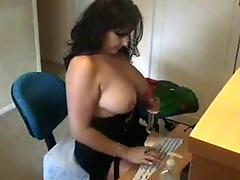 Masterbating for webcam