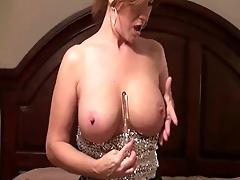 milf on bed