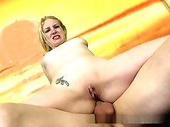 Milky Blonde Woman Is Manhandled...