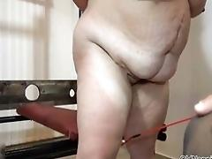 Fat granny with hefty tits gets...