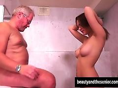 Teen Emily gets nailed by senior...