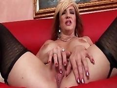 Mature whore in stockings fucked...