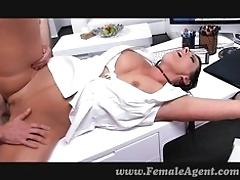 MUMMY fucked on her own desk