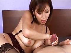 Sexy suntanned Mai Kuroki in...