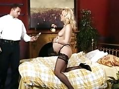 Sexy preggie blonde fucking