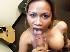 Get deepthroated in the office
