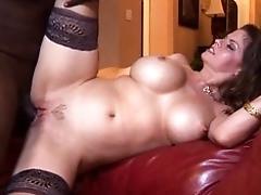 Black stiffy for big milky tits