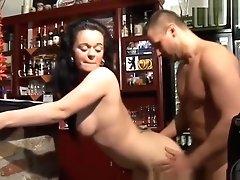 Hot German Waitress Deepthroats...