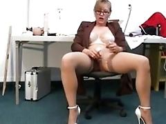 Trampy mature teacher loves to play