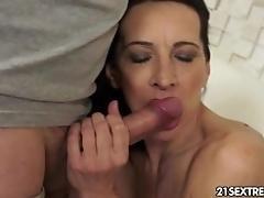 Horny fellow fucks masturbating...