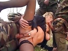 Wifey gang-fucked by soldiers