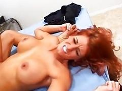 Redhead mommy rails hard dick