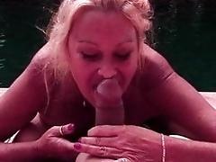 Ash-blonde mature doctor humping