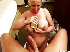 Bitchy MUMMY with big tits likes...