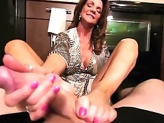 Hot Cougar Foot Rubdown