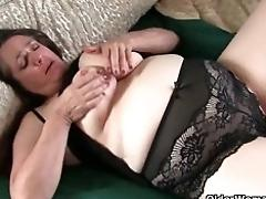 Huge-boobed granny takes care of...