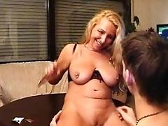Horny German mom instruct her...
