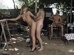 German Bitch fucked by two...