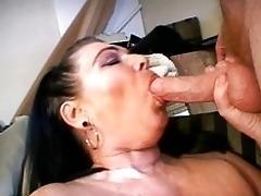 Mature lady sucking man sausage