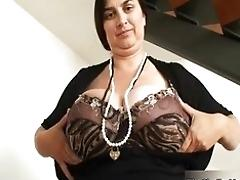 Big-boobed mature whore gets...