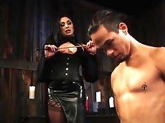 Lusty Mistress Spanking Her Sub Boy