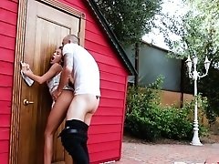 Megan Rain In Rear End Door