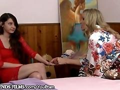 Lesbian Teen Guided by Sensual...