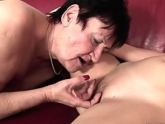 Buxom Chrissie Gets Tongued By...