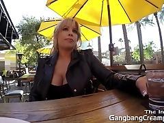 Gangbang Creampie 6 dicks cum...