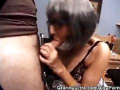 Granny Places That Cock In Her...