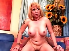 Horny Blonde Mom With Big Tits...