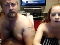 couple sharing webcam